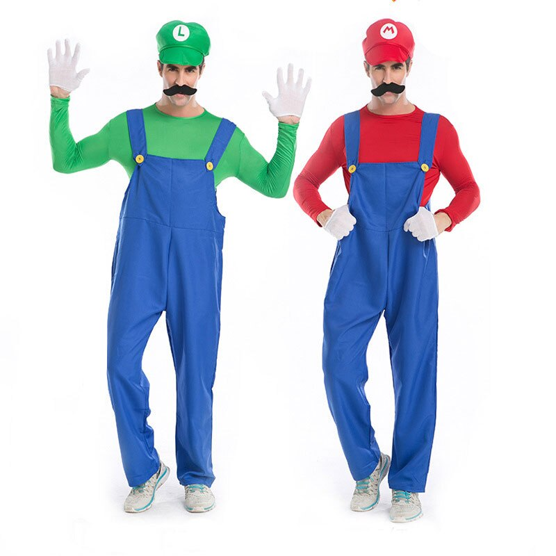 Umorden Halloween Purim Party Costumes Men Super Mario Luigi