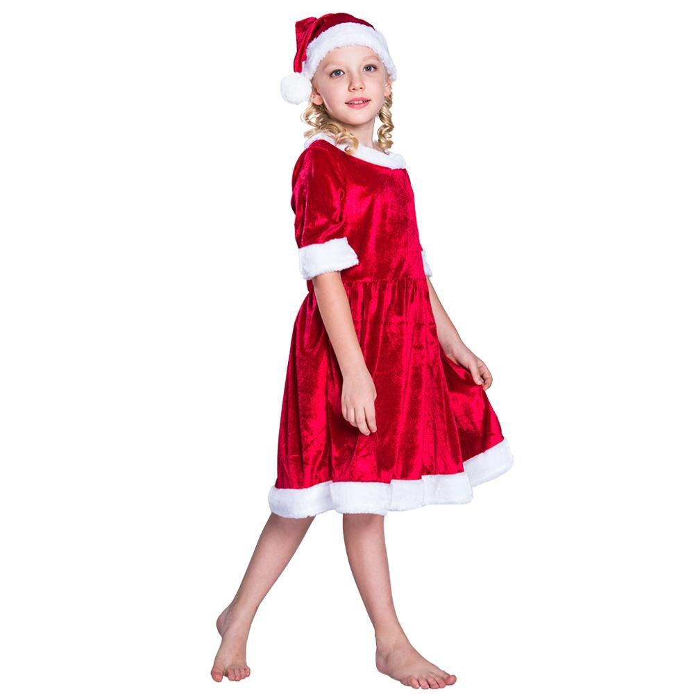 Infant Baby Girls Cartoon Santa Princess Dress Christmas Dress Outfit Clothes L