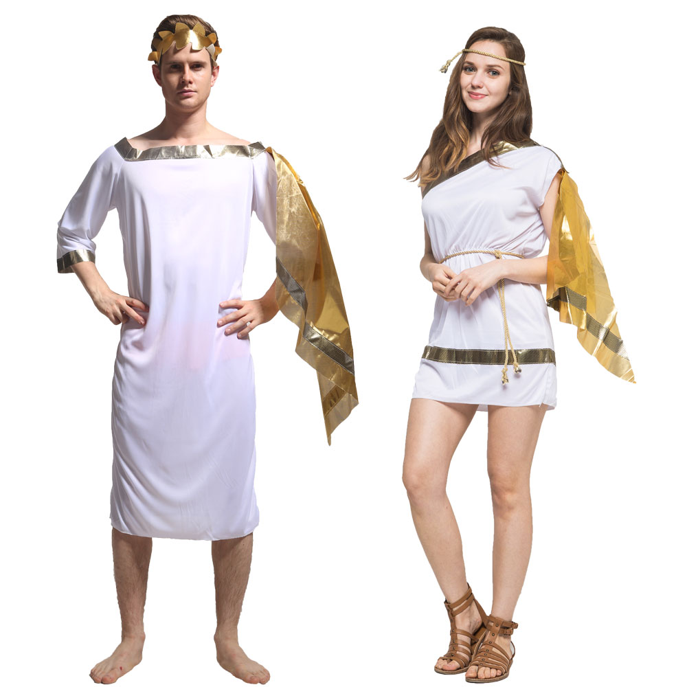 Umorden Adult Grecian Toga Set Costume Men Women Roman Greek God Goddess Costumes Halloween Purim Party Mardi Gras Fancy Dress Kids And Mom Shop