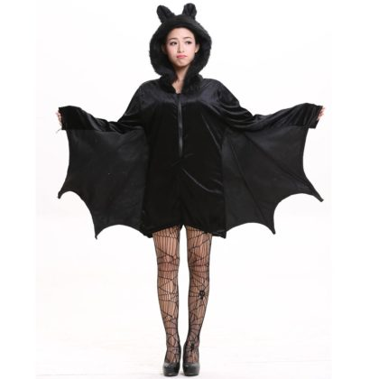 Womens Animal Costumes- Halloween Purim Carnival Party Woman Black Bat Vampire Costumes.