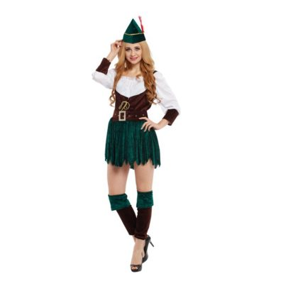 Best Female Halloween Costumes- Juniors Ladies Robin Hood Costume Huntress Halloween Cosplay.