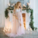 Blush-Pink-Long-Tulle-Maternity-Dresses-With-Half-Sleeves-Appliques-Pregnant-Women-Dress-To-Photoshoots-2018