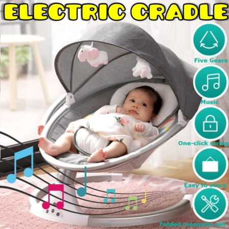 Safety Baby Rocking Chair 0-3 baby Electric Cradle Rocking Chair Soothing The Baby's Artifact Sleeps Newborn Sleeping