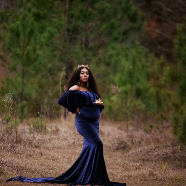 Velvet-Maternity-Off-Shoulder-Fitted-Gown-Maxi-Photography-Dress-for-Baby-Shower-Pregnancy-Ruffles-Long-Sleeve-Photo-Props-Dress